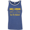 Image of Save the Species Save the Elephants Awareness Men's Tank Top