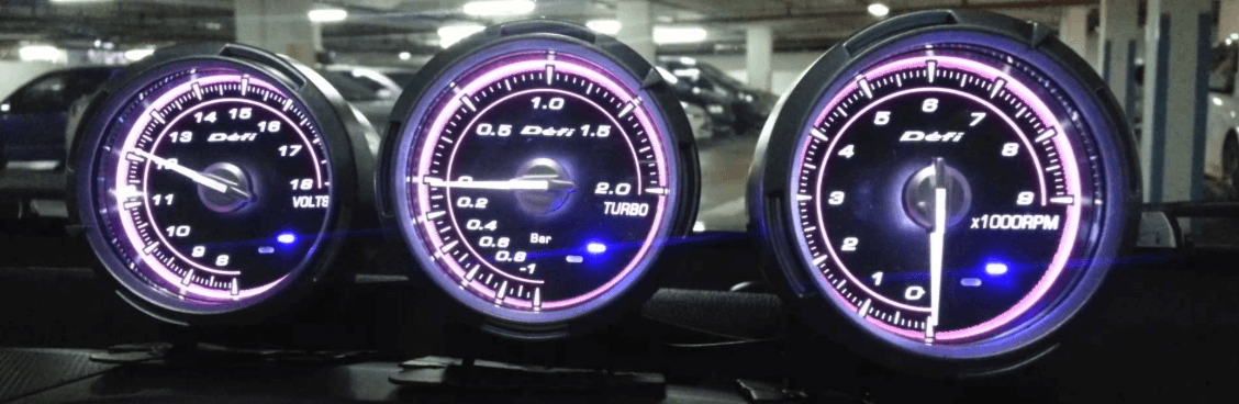 3 blue display defi gauges installed and running