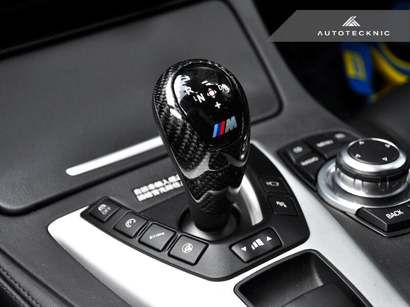 AutoTecknic Carbon Fiber Gear Selector Cover - BMW (M-DCT Transmission  Equipped Only)