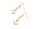 Brass Anchor Earrings