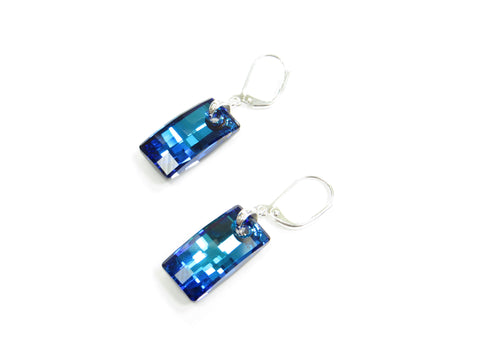 Bermuda Blue Swarovski Urban Earrings