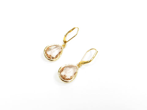 Champagne Gold Pear Earrings