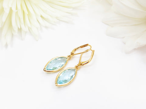 Aquamarine Marquise Earrings