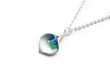 Calla Lily Necklace In Teal