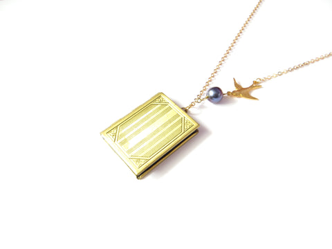 Brass Book Locket