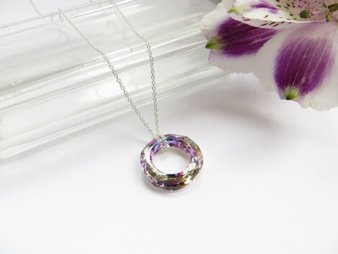 Eternity Circle Necklace - Vitrail Light