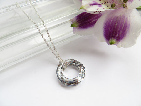 Eternity Circle Necklace - Silver