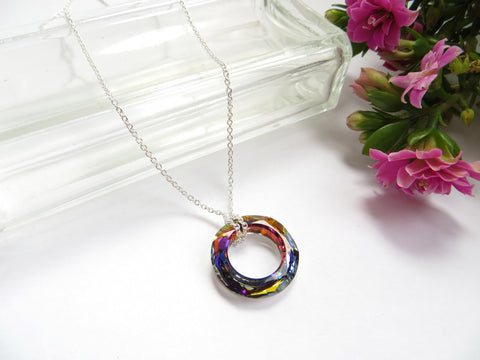 Eternity Circle Necklace - Volcano