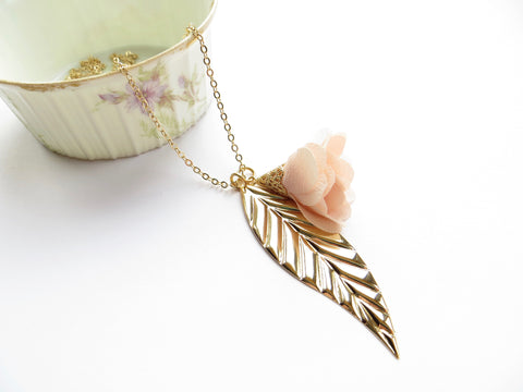 Leaf and Flower Necklace