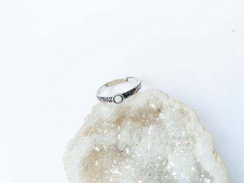 Sterling Opal Ring - Silver