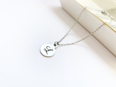Stainless Steel Initial Necklace