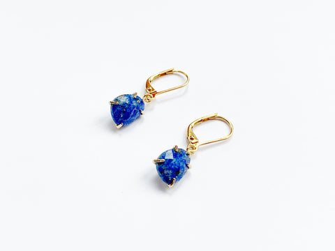 Nugget Earrings - Lapis