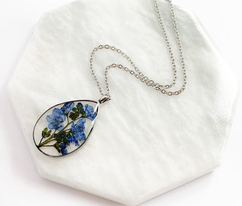 Forget Me Not Necklace - Silver