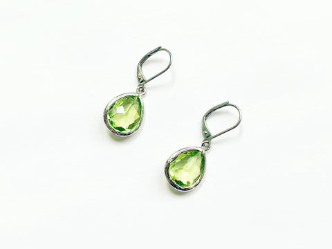Peridot Earrings - Silver