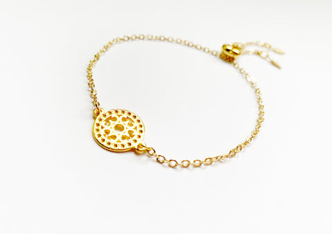 Mandala Bracelet in Gold