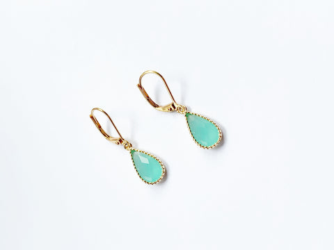 Mint Pear Earrings