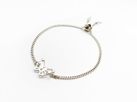Adjustable Butterfly Bracelet in Silver