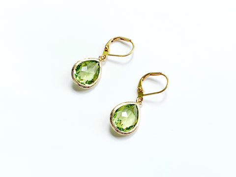 Peridot Earrings - Gold