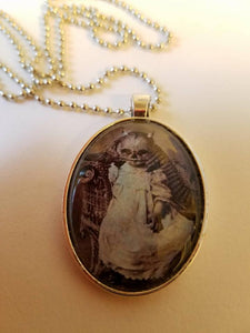 Creepy Baby Cabochon Necklace