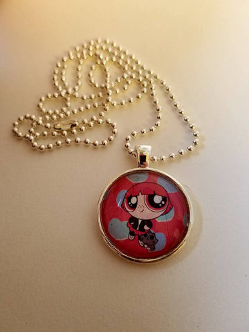 Power Puff Cabochon Necklace