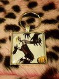 Vintage Halloween Pin Up Cabochon Key Chain