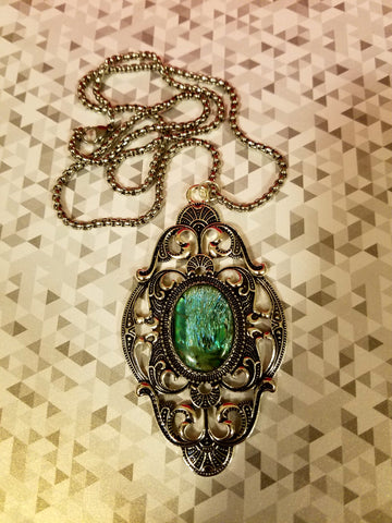 Deco Empress Cabochon Necklace