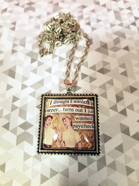 Vintage Sass Cabochon Necklace