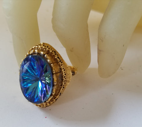 Blue Vitrail Ring
