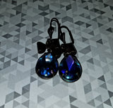 Sapphire Blue AB Drop Earrings