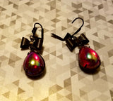 Ruby Red AB Drop Earrings
