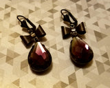 Marquis Givre Glass Drop Earrings
