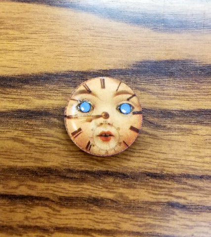 Face of Time Lapel Pin