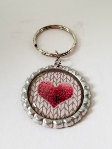Woolie Heart Key Chain