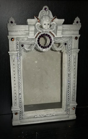 Bedazzled Putto Mirror