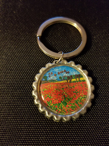 Poppy Field Key Chain