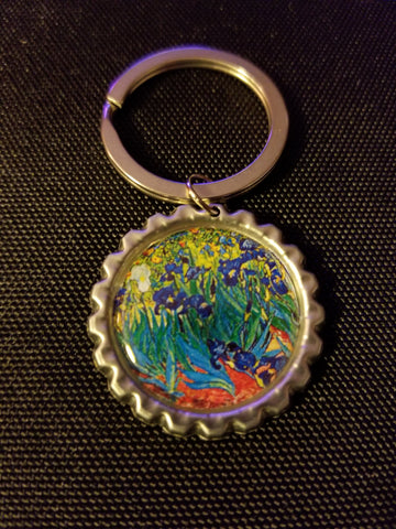 Irises Key Chain