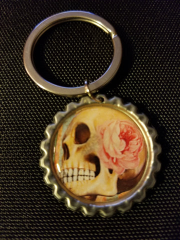 Pink Death Key Chain