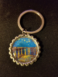 Starry Night Over the Rhone Key Chain