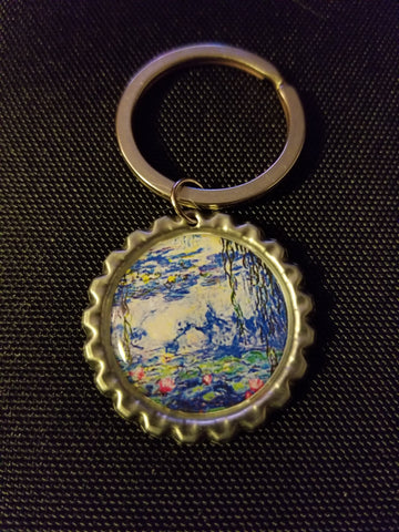 Water Lilies Key Chain