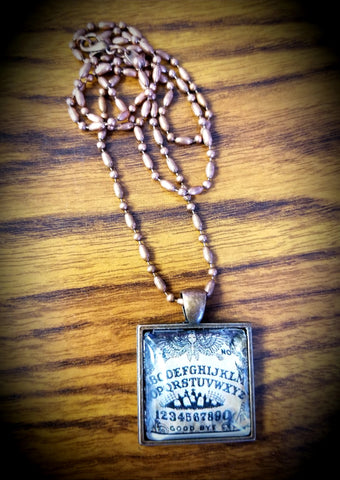 Ouija Board Cabochon Necklace