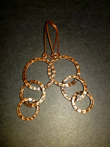 Concentric Antique Copper Earrings