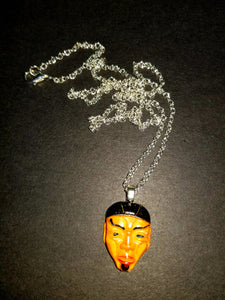 Asian Mask Necklace