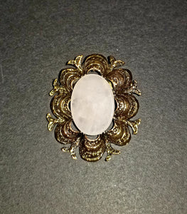 Victorian Blush Quartz Brooch
