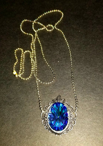 Blue Vitrail Necklace