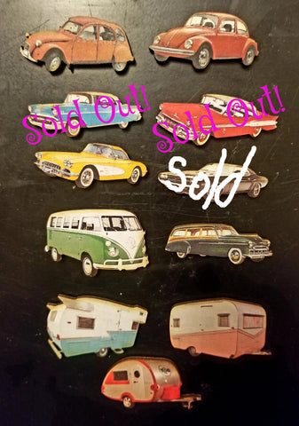 Retro Car Magnets