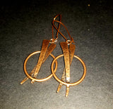 Entwined Antique Copper Earrings