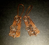 Modern Pictish Antique Copper Earrings
