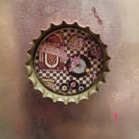 Retro Bottle Cap Magnet