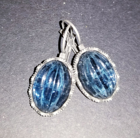 Midnight Blue Cabochon Earrings