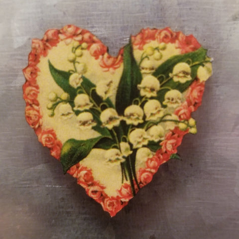 Lily of the Valley Heart Magnet